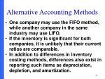 alternative accounting methods