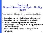 chapter 14 financial statement analysis the big picture