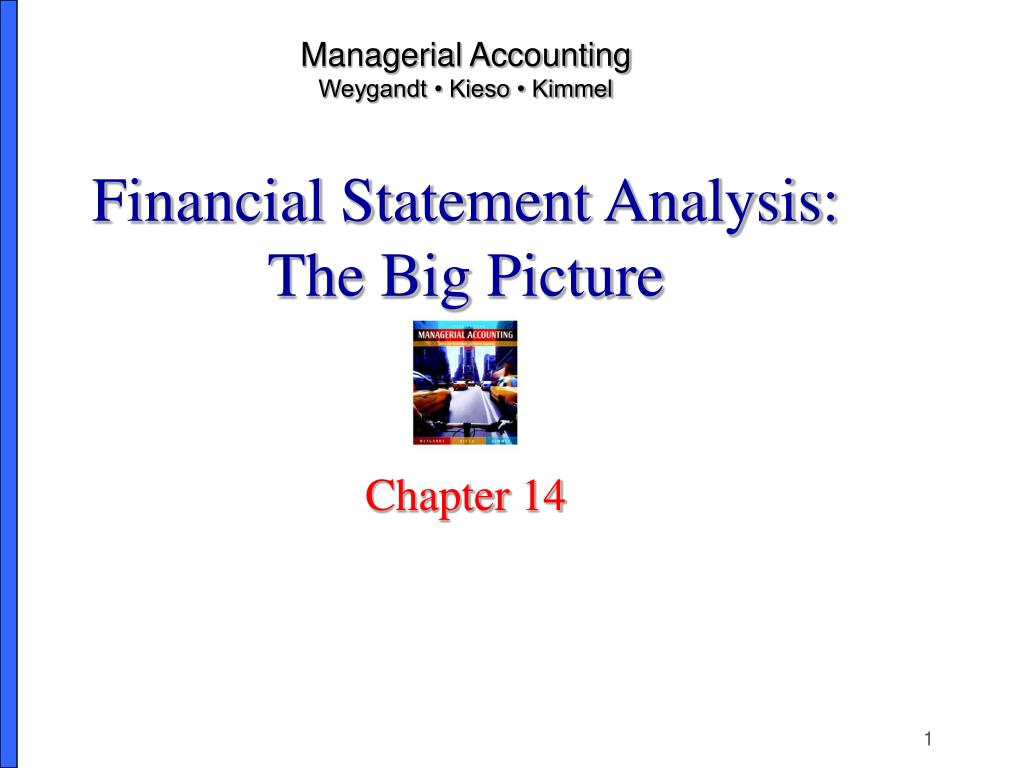 managerial accounting weygandt kieso kimmel financial statement analysis the big picture l.