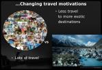 changing travel motivations