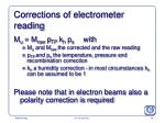 corrections of electrometer reading