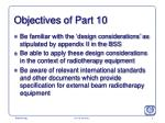objectives of part 10