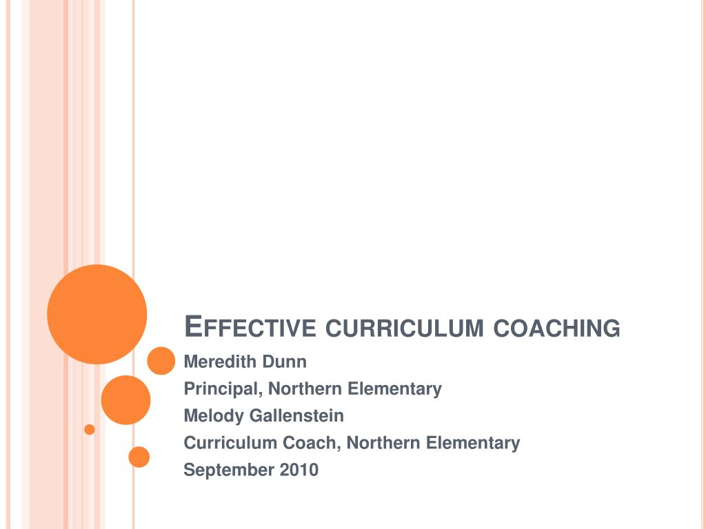 effective curriculum coaching l.