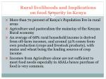 rural livelihoods and implications on food security in kenya