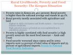 rural livelihoods poverty and food security the kenyan situation