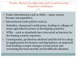 trade rural livelihoods and food security negative linkages