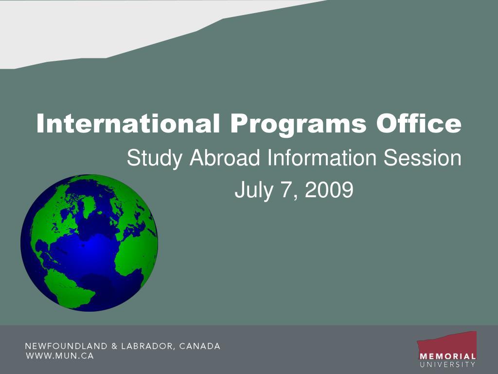 international programs office l.