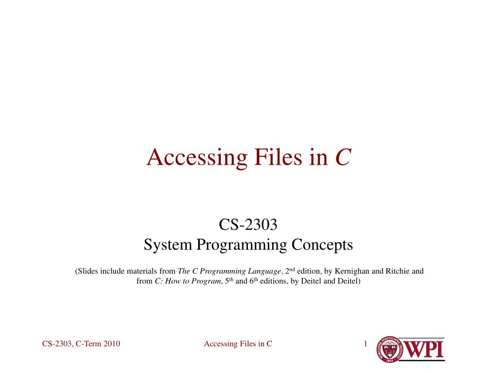 accessing files in c l.