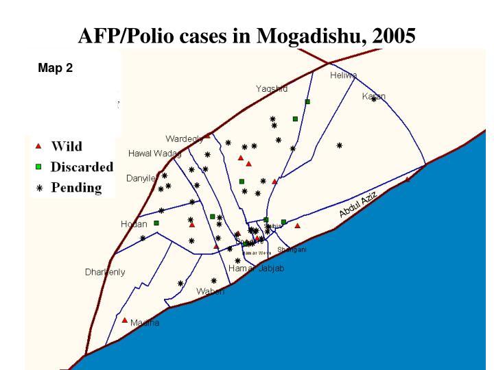 AFP/Polio cases in Mogadishu, 2005