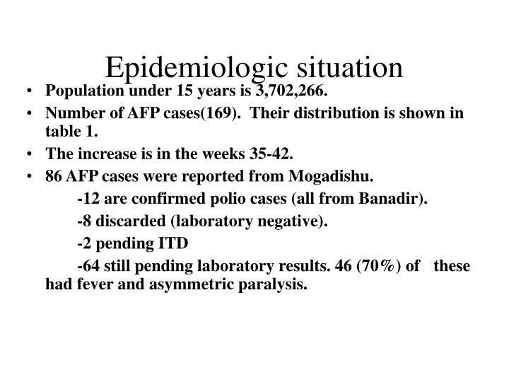 Epidemiologic situation
