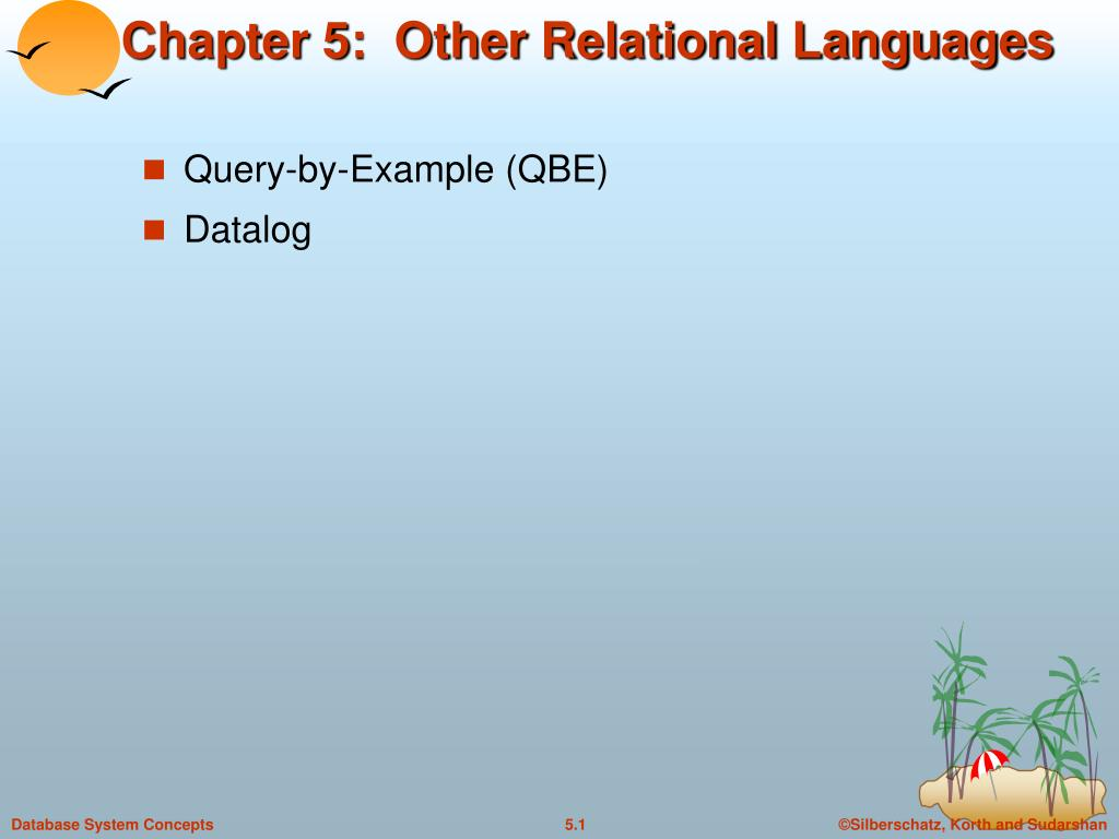 chapter 5 other relational languages l.