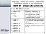 nsps iiii emission requirements