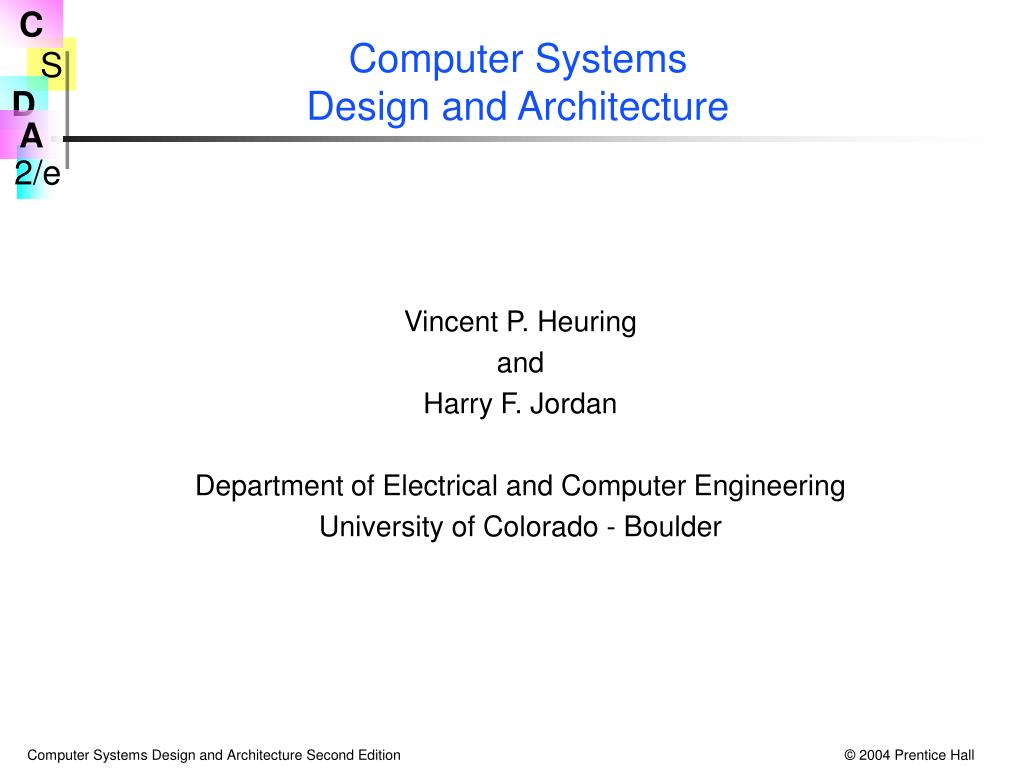 computer systems design and architecture l.