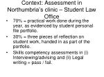 context assessment in northumbria s clinic student law office