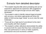 extracts from detailed descriptor