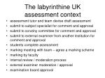 the labyrinthine uk assessment context