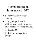 4 implications of investment in ojt