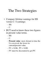 the two strategies