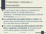 conexiones verticales y horizontales