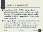 hume y la compasi n