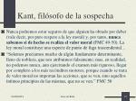 kant fil sofo de la sospecha