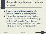 origen de la obligaci n moral en la raz n