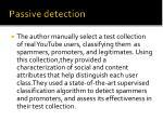 passive detection