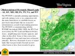 reforestation of previously mined lands al ky md oh pa tn va and wv