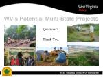 wv s potential multi state projects20