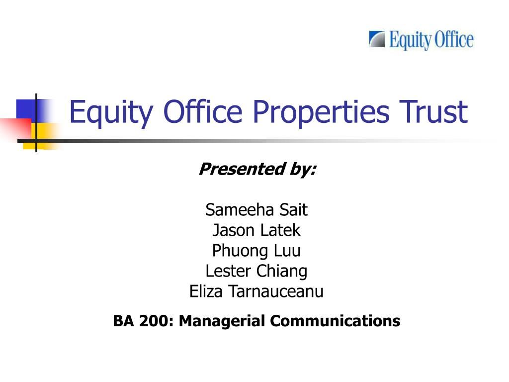 equity office properties trust l.