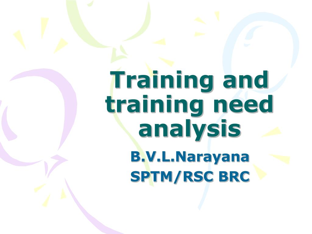 training and training need analysis l.