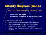 affinity diagram cont20