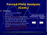 forced field analysis cont