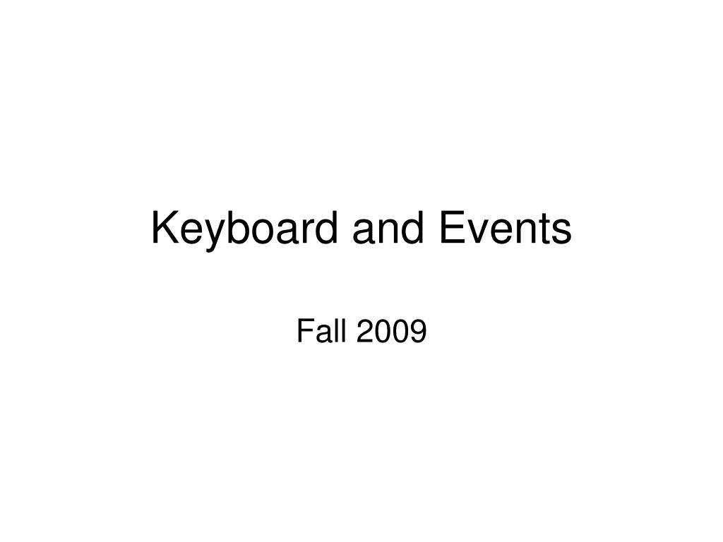 keyboard and events l.
