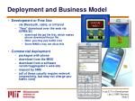 deployment and business model