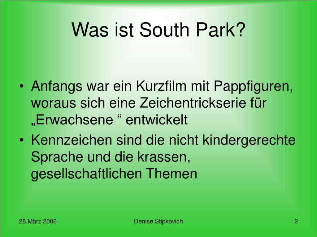 Was ist South Park?