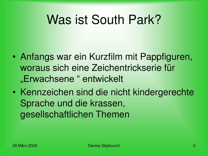Was ist south park