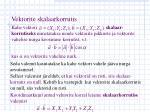 vektorite skalaarkorrutis