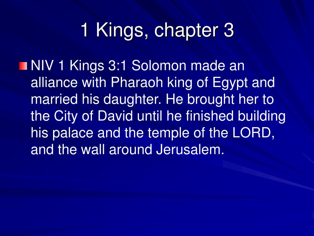 1 kings chapter 3 l.