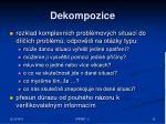 dekompozice