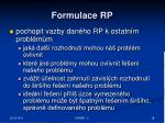 formulace rp