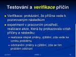 testov n a verifikace p in43