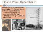 opana point december 7 1941