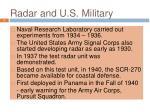radar and u s military
