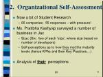 2 organizational self assessment