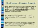 key practice evolution example