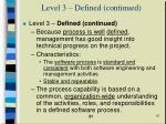 level 3 defined continued10