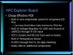 hpc explorer board