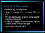 milestone 1 deliverables