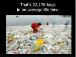that s 22 176 bags in an average life time